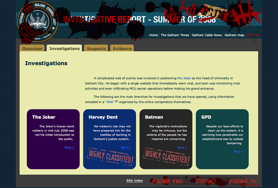 Image of main investigation page