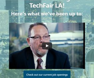 TechFairLA landing page